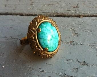 Vintage filigree West German Ring