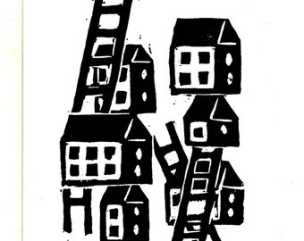 Houses and Ladders  print