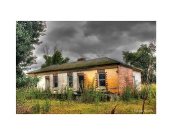 Abandoned Home, Photography, Lost Love, Home Decor, Wall Art 9X6 Photograph