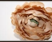 Dry Look Ruffle Ranunculus in Khaki or Champagne Beige - 3 Inches - ITEM 0659