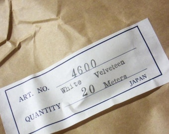 Vintage Millinery Velveteen Fabric / For Making Your Own Millinery Flowers / Made in Japan / One Meter / Flower Making Supplies