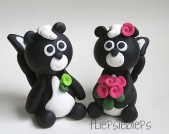 Custom Skunk Cake Topper