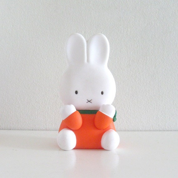 Vintage Squeaky Toy 1980s Dick Bruna Miffy Bunny