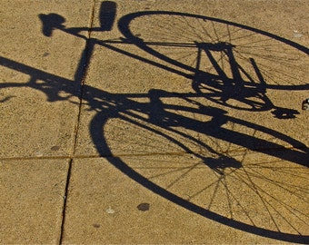 beige sand black indigo  photograph bicycle shadows abstract shadow rounds lines  RIDING In the SHADOWS wheels