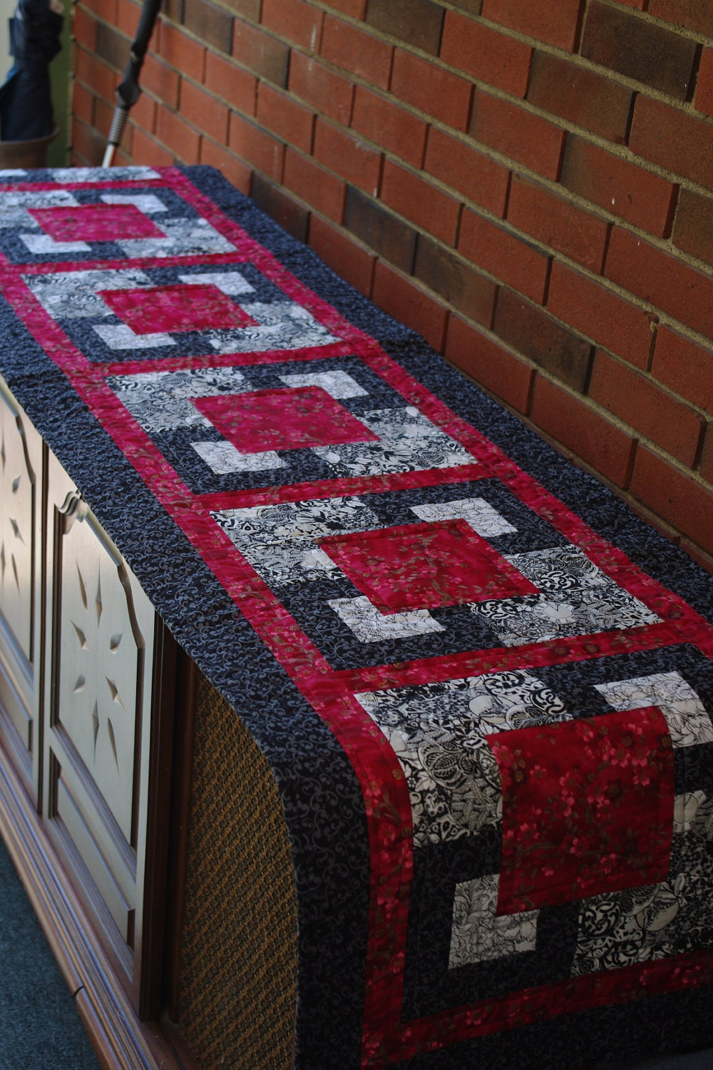 Quilted Bed Runner Double Queen Quiltsy