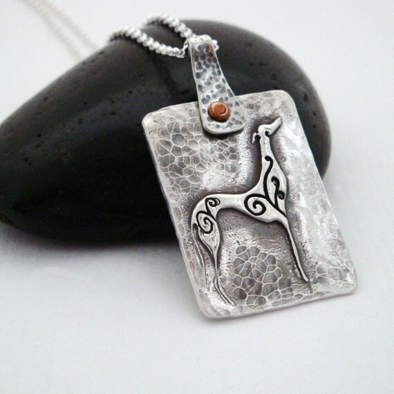 Greyhound Necklace - Greyhound Jewelry Belle Signature Greyhound Necklace