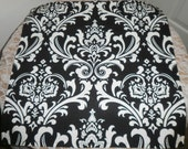 Free Domestic Shipping-Traditions White on Black Table Square -Wedding Accessories/Formal Events/Formal Dining/Table Linens