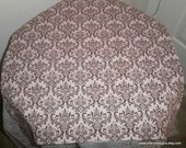Free Domestic Shipping-Madison Brown on Pink Table Square -Wedding Accessories/Formal Events/Formal Dining/Table Linens