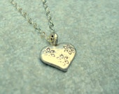 layered necklace heart necklace layered jewelry fine silver necklace petite necklace  modern necklace stamped heart, Gift for Her Jewelry
