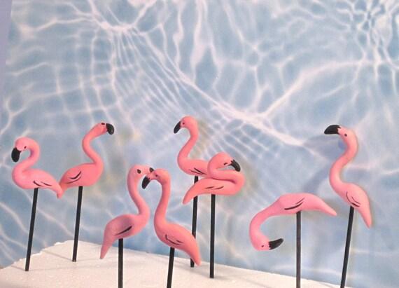 Flamingos for your mini yard