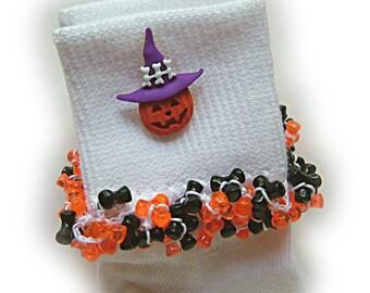 Kathy's Beaded Socks - Jack-in-the-Hat -  Bones socks, Halloween socks, holiday socks, Fall socks, pumpkin socks, jack o'lantern socks