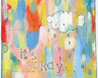 8x10 PRINT- it's okay