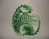 "New Handmade Crocheted ""Little Pineapple"" Coaster/Doily in Shaded Greens"
