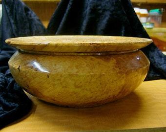 Music wood, Big leaf maple Maple BURL, bowl/box URN, with lid, high end gift