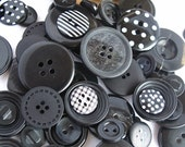 Black Hole Buttons x100g 1 cup approx assorted with some patterned