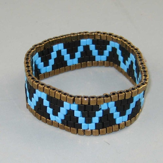 Mens Native American Beads: Bracelet Mens Beaded Geometric Native American Design