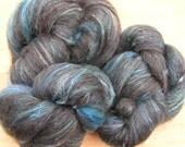 119g shetland and silk spinning batts - Northern Lights