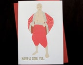 Cool Yul Letterpress Holiday Card // 1533
