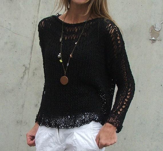 Black Cotton sweater
