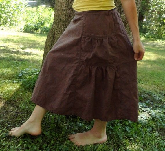 Womens hemp Bella skirt with pockets CUSTOM MADE to order