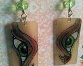 Eye of Infinity earrings Rainbow