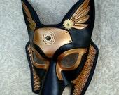 Industrial Anubis V16 ... original mixed media handmade steampunk egyptian jackal mask