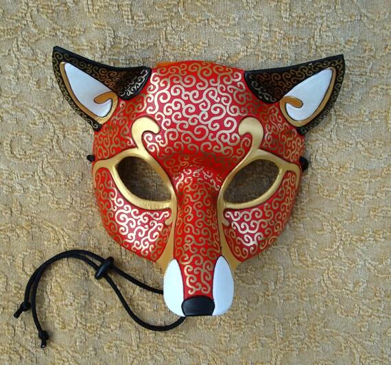 Venetian Fox Mask... handmade leather mask