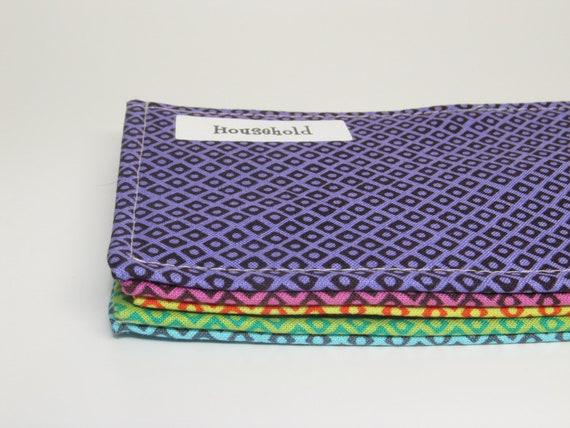 Five Cash Envelopes / / /  Fresh & Beautiful Assorted Colors