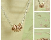 14kt Rose Gold Filled Necklace Customize in Argentium Sterling Silver or 14kt Yellow Gold Filled