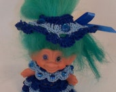 Blue on Blue 3 Inch TROLL OUTFIT