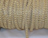 Gold Metallic with tiny Yellow Ribbon - Trim Me Up 5 Yards DESTASH