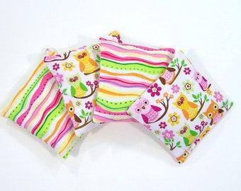 OWLS - Kids Bean Bag Set of 4 - Party Favor - Stocking Stuffer