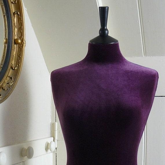 Slip on Luxury Velvet Mannequin Dressform COVER ONLY - Aubergine
