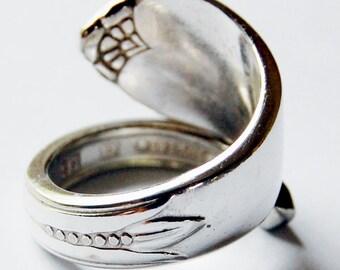 Silver Spoon Ring - My Heart - Size 8 (adj by me)