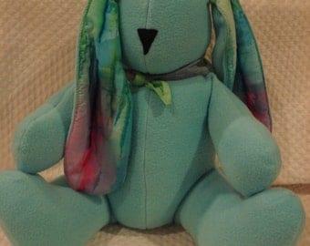 Turquoise Tie Dye Bunny