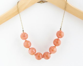Statement Necklace - Pink Necklace - Vintage Bead Necklace - Chunky Necklace - Girlfriend Gift - Strand Necklace - Gift For Friend
