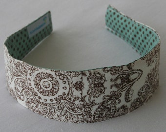 REVERSIBLE Headband that is Washable and Pain Free