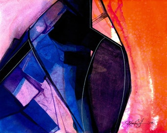 Abstraction Series . 317 ... Original abstract water media art ooak painting by Kathy Morton Stanion EBSQ