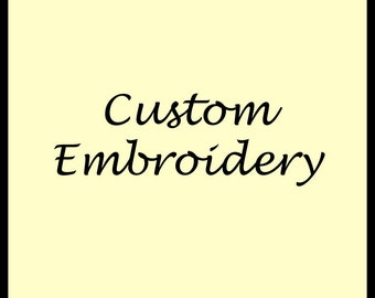 Embroidery of Name and Date on Gown of your Choice