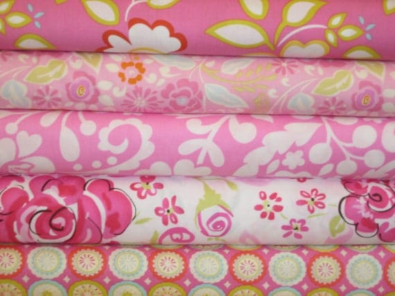 Dena Designs Combo in Pinks and Fuschia, Fat quarter set