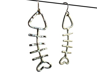 Fish Sticks - Sterling Silver Fish Earrings