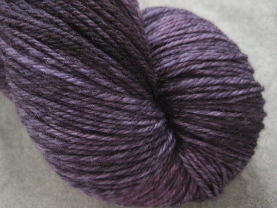 "Hand Dyed Sock Yarn - 3-ply fingering weight - ""Through the Grapevine"""