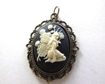 Fairy   Pendant Antique Brass