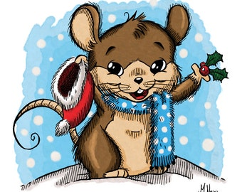 Merry Mouse (DIGI STAMP)