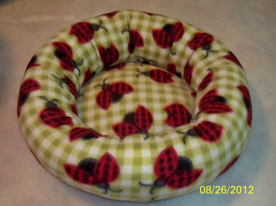 Lady Bugs On My Bed - Cat or Small Dog Bed