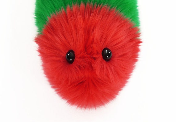 Reserved for Aimee  Red and Green Snuggle Worm Caterpillar