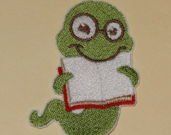 Bookworm Iron-On Patch