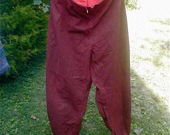 Vintage Red Hazpunk Trousers - Genuine Hazmat Vesicant Gas Protective Chemical Warfare Bloomers