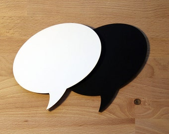 Small Chalkboard or Dry Erase Speech Bubble - photo prop or home decor