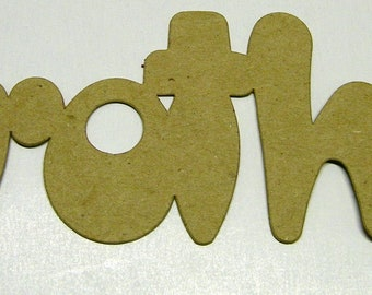 Brother Die Cut Word from Kraft Chipboard 7 x 2 inches Pack of 4